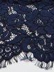 Crocheted Pierced Crew Neck Elegant A-line Midi Dress