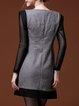 Wool Blend Embroidered Vintage Sleeveless Mini Dresses