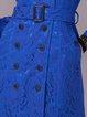 Elegant Lace Lapel Long Sleeve Trench Coat