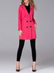 Cocoon Elegant Wool Blend Plain Long Sleeve Coat