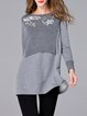 Long Sleeve Floral Casual Wool Blend Sweater