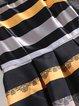 Black Crew Neck A-line Stripes Elegant Party Dress