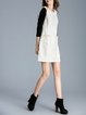 White Cotton Simple A-line Pockets Mini Dress