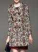Multicolor Embroidered Vintage Wool Blend Coat