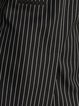 Black Formal Stripes Lapel Polyester Vests And Gilet