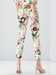 Multicolor Floral Statement Skinny Leg Pants