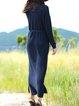 Long Sleeve Turtleneck Plain Casual Sweater Dress With Belt