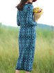 Multicolor Tribal Vintage Sheath Knitted Sweater Dress