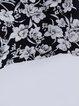 Multicolor Paneled Crew Neck Floral Casual Mini Dress