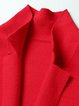 Red Cashmere Lapel Long Sleeve Coat