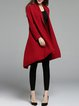 Burgundy Cashmere Asymmetric Simple Coat