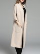 Beige Cashmere Pockets H-line Casual Coat