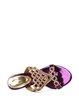 Purple Stiletto Heel PU Summer Rhinestone Casual Slippers