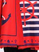 Red Stripes Polyester Scarf