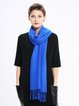 Blue Casual Viscose Solid Scarf