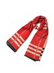 Red Polyester Casual Geometric Scarf