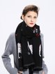 Black Animal Print Casual Scarf