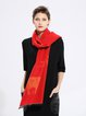 Red Animal Print Casual Scarf