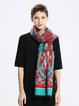 Red Polyester Casual Scarf