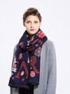 Royal Blue Casual Floral Scarf