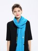Blue Casual Graphic Scarf