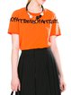 Orange Casual Letter Knitted Embroidered T-Shirt