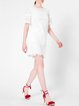 White H-line Elegant Pierced Mini Dress