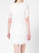 White H-line Elegant Pierced Mini Dress