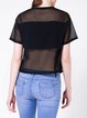 Black H-line Casual See-through Look T-Shirt