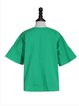 Green Embroidered Frill Sleeve T-Shirt