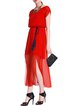Red Casual Plain Maxi Dress