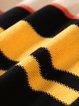 Multicolor Stripes Batwing Color-block Sweater