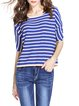 Blue Stripes Half Sleeve Sweater