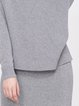 Gray Two Piece Simple Slit Turtleneck Knitted Midi Dress