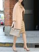 Naked Pink Wool Casual Slit Coat