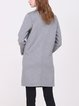 Gray Lapel Simple Plain Wool Coat