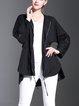 Cotton Raglan Sleeve Plain Casual Coat