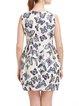 White Floral-print Sleeveless Crew Neck Mini Dress