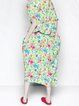 Multicolor Asymmetrical Statement Midi Dress