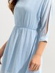 3/4 Sleeve Casual Gathered A-line Mini Dress