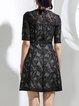 Elegant Half Sleeve A-line Mini Dress