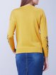 Casual Knitted Long Sleeve Crew Neck Long Sleeved Top