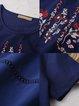 Royal Blue Shorts Sleeve Crew Neck Tunic