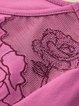 Fuchsia Solid Long Sleeve Mesh Paneled Crew Neck T-Shirt