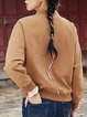 Casual Long Sleeve Bomber Jacket