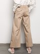 Cotton Casual Solid Wide Leg Pants