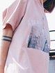 Pink Girly Printed Hoodie A-line Mini Dress