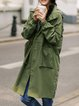 Casual Cotton Long Sleeve Trench Coat