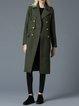 Lapel Pockets Wool Blend Long Sleeve Coat