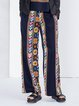 Multicolor Printed Tribal Vintage Wide Leg Pants